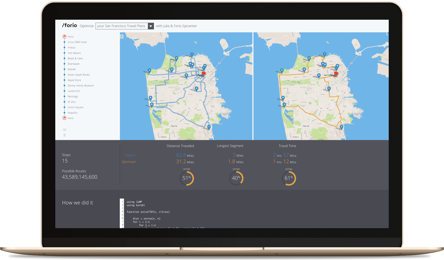 The Route Optimizer by Forio